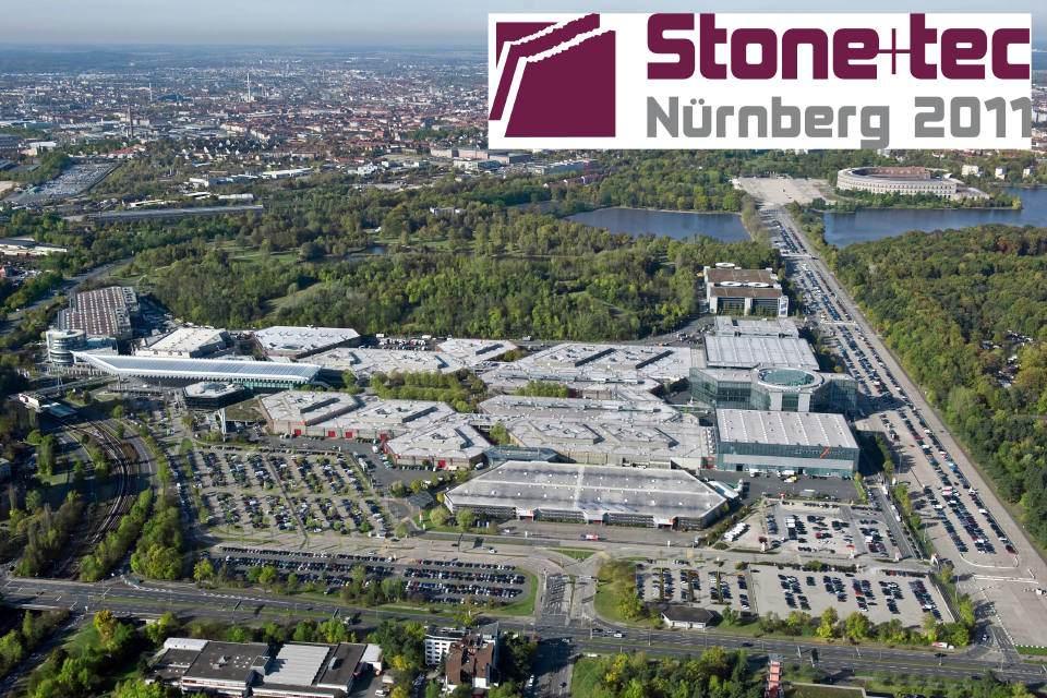 Luftbild des Messegeländes in Nürnberg. Foto: NürnbergMesse/Bischof & Broel