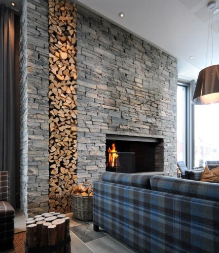 architecture: a hotel in the sign of slate - stone-ideas