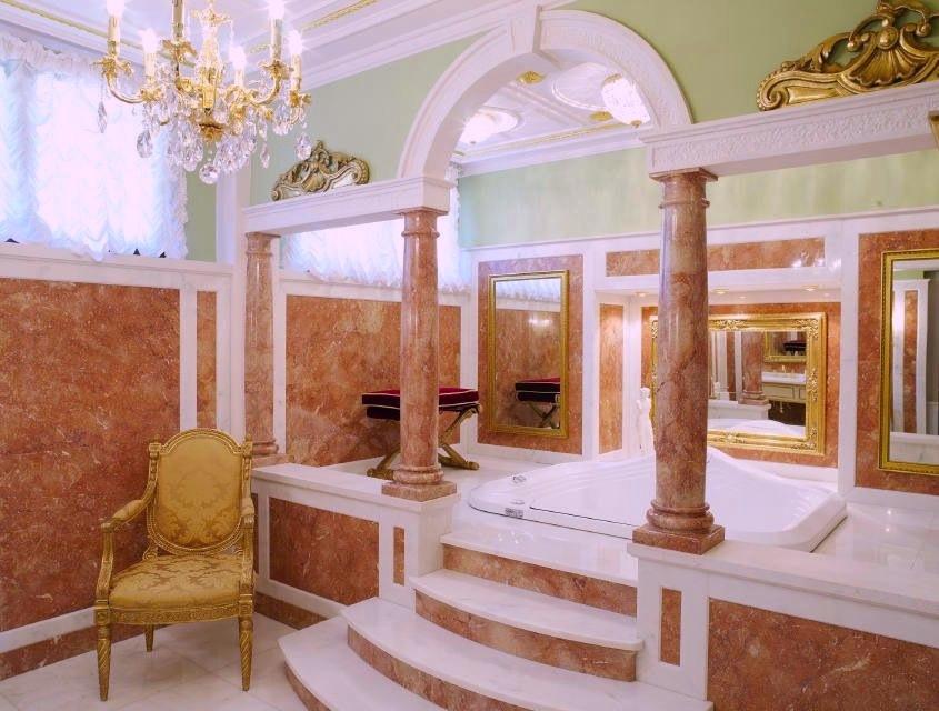Architettura bagno in ambiente esclusivo stone - Bagno lusso design ...