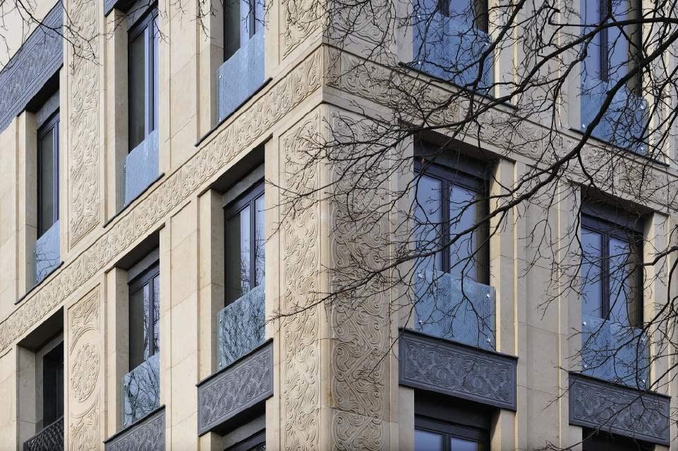 Architecture fa ades with decorative stone ornaments Decoration facade