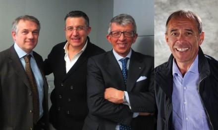 Il Presidente di Confindustria Marmomacchine, Carlo Zerlia (a dx) con i due neo-eletti Consiglieri per il biennio 2013/2015 Fabio Bonardi (a sx) e Giambattista Pedrini (al centro). Foto a dx: Bombana Igino.
