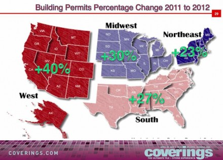 Donato Grosser: building permits were up 23 to 40 % in 2012 depending on the region