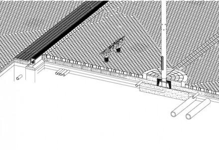 La intención de evitar líneas dominantes se extiende incluso a las propias diagonales: éstas no se cruzan simplemente unas con otras, sino que están colocadas de forma que parece que unas desembocan en las otras.