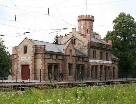 Bahnhof Beckingen.