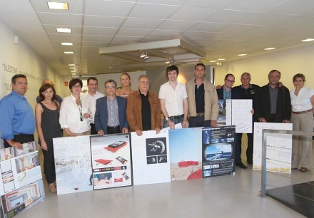 Os ganhadores do concurso Cosentino Design Challenge 2013.
