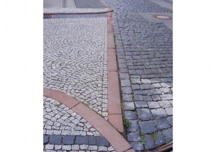 Pflaster in der Margarethenstraße in der Gothaer Altstadt.