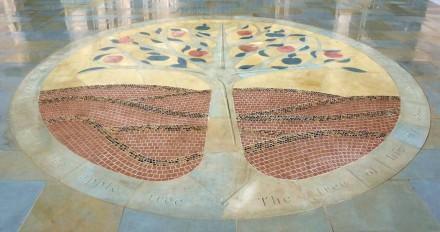 "Natural stone mosaic ""Jesus Christ the Apple Tree""."