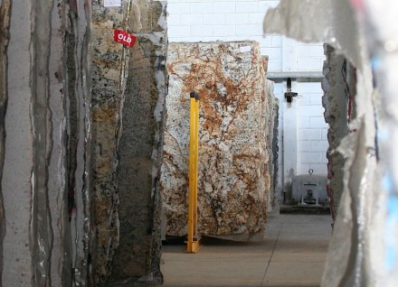 Raw slabs used for production of countertops.