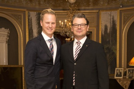 Left: Thor-Anders Lundh Håkestad (CEO of Lundhs), right: Heikki Palin (CEO of Palin Granit). Photo: Marius Lundh Håkestad