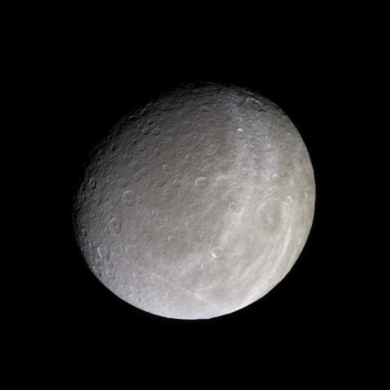 Saturn's moon Rhea in natural color. Photo: NASA/JPL/Space Science Institute