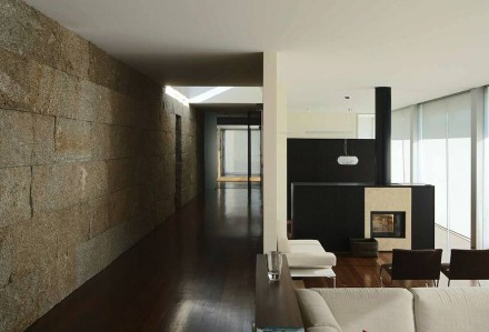 Architect Anton Graf used small natural stone blocks to design an unusual radiator.