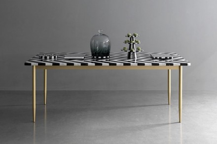 Bethan Gray: herringbone dining table.
