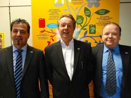 Mit dabei bei dem internationalen Treffen war das Vertriebsteam Fila Deutschland (von links nach rechts): Walter Rückert, Ralf Müller, Ralf Lüders.