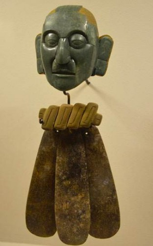 Mask from the Pakal ceremonial belt, jade, Palenque, Chiapas.