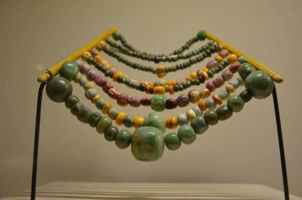 Bracelets, Tumba 1, estructura XV, jade and shell, Calakmul, Campeche.