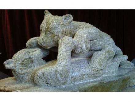 """""""Tiger cubs"""" (Tigerkinder). Ham stone 1 m x 400 x 500 mm."""