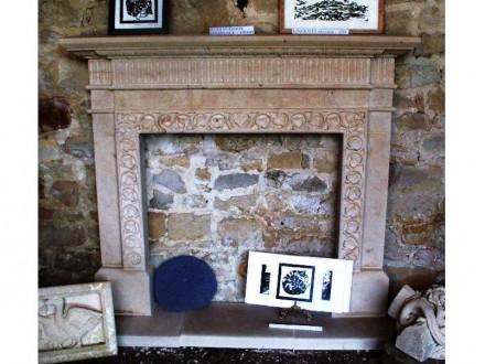 Kamin. Marnhull stone 1,3 x 1,3 m.