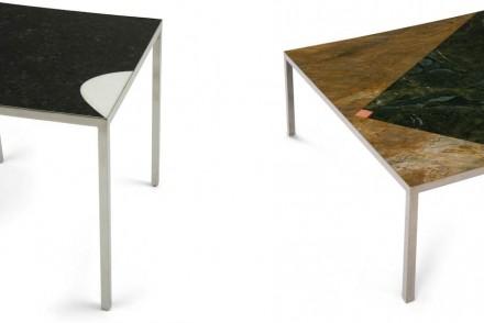 A isso o designer adiciona outras formas geométricas, como linhas, parábolas ou triângulos, em superfícies alongadas.