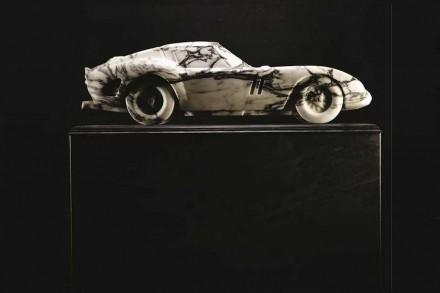 Lapicida: 250 GTO Ferrari in Arabescato marble.
