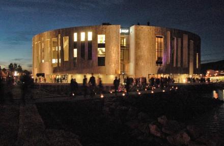 Akureyri's new cultural center.