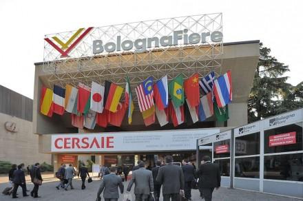 Ingresso principale per la Cersaie, 2013. Foto: Bologna Fiere