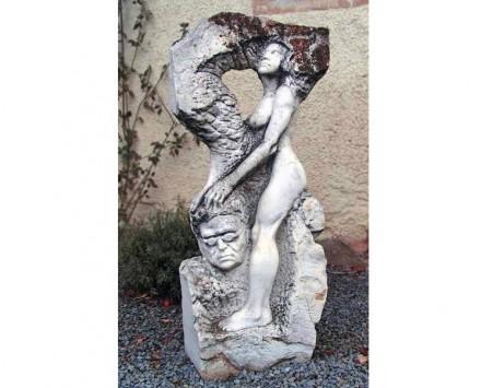 """Ralf Ehmann: """"Chronische Nackenbeschwerde"""", Marmor, 135 cm."""