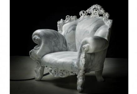"""Solid Senses"", Alessandro Mendini: ""Proust"" (Calacatta marble, 107x107x87 cm, 530 kg). Photo: Enrico Amici"