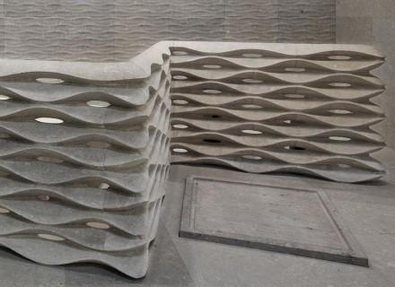 "Lithos Design: ""Onda"", Kollektion ""Muri di Pietra"". Design: Raffaello Galiotto."