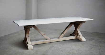 "Lapicida: ""Marble Refectory Table""."