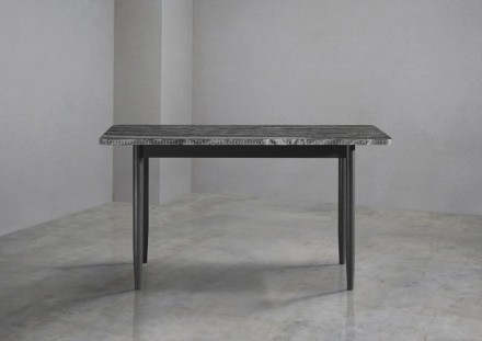 "Bethan Grey, Lapicida: ""New Brogue Table Collection"", console table, Montclair marble."