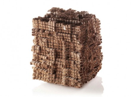 Gerhard Trieb: cubic landscapes on natural stone surface.