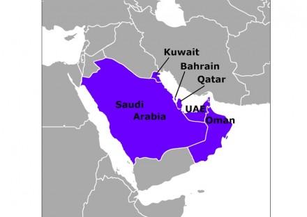 Die Länder des Golf-Kooperationsrats. Quelle: Wikimedia Commons