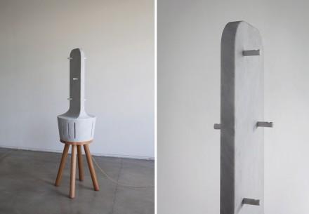 """""""Heatty"""": Ventilador de aire caliente con lugar para guardar ropa."""