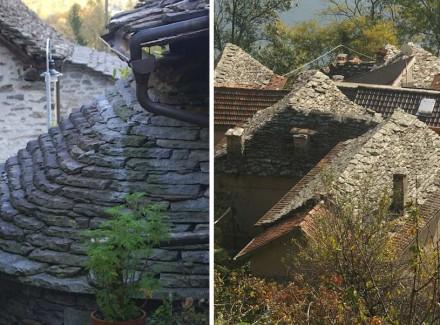 Da mesma forma, houve uma referência a telhas, como mostram essas fotos de Cannero, no Lago Maggiore, na Itália. Fotos: Bertram Feld