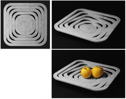 """Simile è """"O-Ring"""", di nuovo un portafrutta. Qui torniamo alla marmetta con 1 cm di spessore."""
