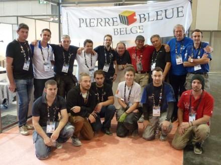 Os participantes lapidadores, junto com seus orientadores. Foto: EuroSkills