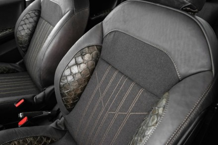 A pele curtida do Pirarucu foi empregada nos assentos e apoios de braços.