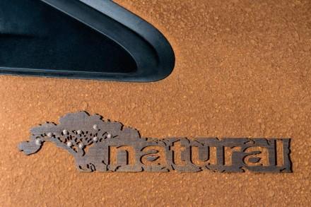 """O logotipo do """"208 Natural"""" é uma árvore Pau-Brasil estilizada, de fato realizada em bambu."""