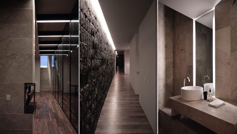 bagno legno e pietra  avienix for ., Disegni interni