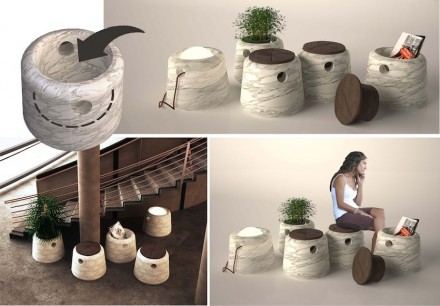 "3. Prize, Students' category: ""Cubo"", Kardelen ALPTEKIN. Portable stone cooking area for multiple use."