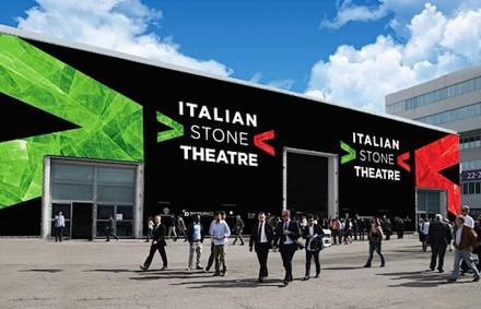 """Für das """"Italian Stone Theatre"""" (Italienisches Steintheater) ist die ganze Halle 1 reserviert."""