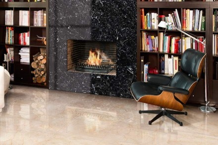 Levantina: Negro Canfranc marble.