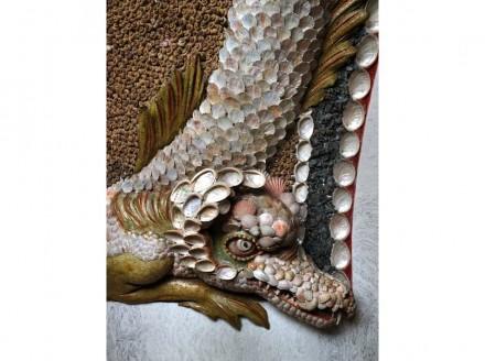 Vielfältige Muscheln und Steine wurden für die Dekoration im Grottensaal verwendet.
