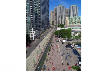 Broadening of pedestrian walks was achieved through the now renowned 3 WaveDecks: ...