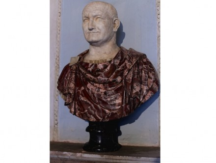 Portrait of Vespasian (69-70 A.D.), Greek Red Portavenere and Alabaster, Capitoline Museums, Rome.