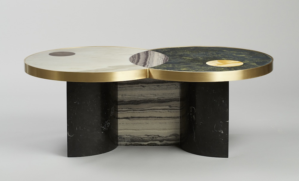 Lapicida Natural Stone Tables Emulate Celestial Bodies