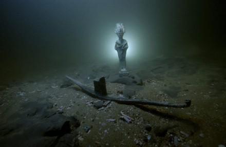 Bronze statue of Osiris' deity found in Aboukir bay.