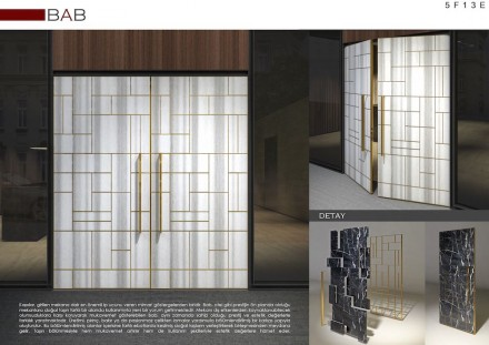 Professional designers, Third Prize (category Hotel Lobby and Shopping Mall Entrance): Abdullah Karsan.