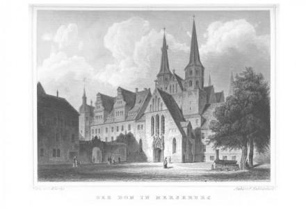"""Merseburger Dom, aus: """"Das Königreich Preussen in malerischen Original-Ansichten"""", Poppel, Johann Gabriel Friedrich (1852)."""
