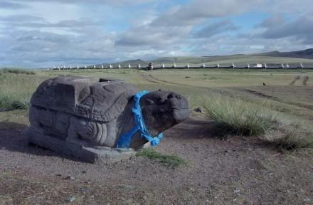 Die Schildkröte mit ihrem langen Leben galt als Symbol der Stadt Karakorum. Foto: Wittersheim / DAI